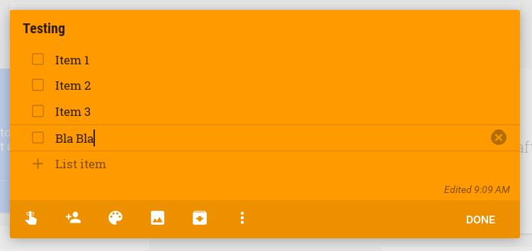Google Keep - New Task